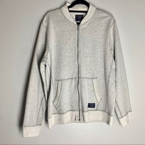 Abercrombie & Fitch Zip Up Bomber Jacket sweater